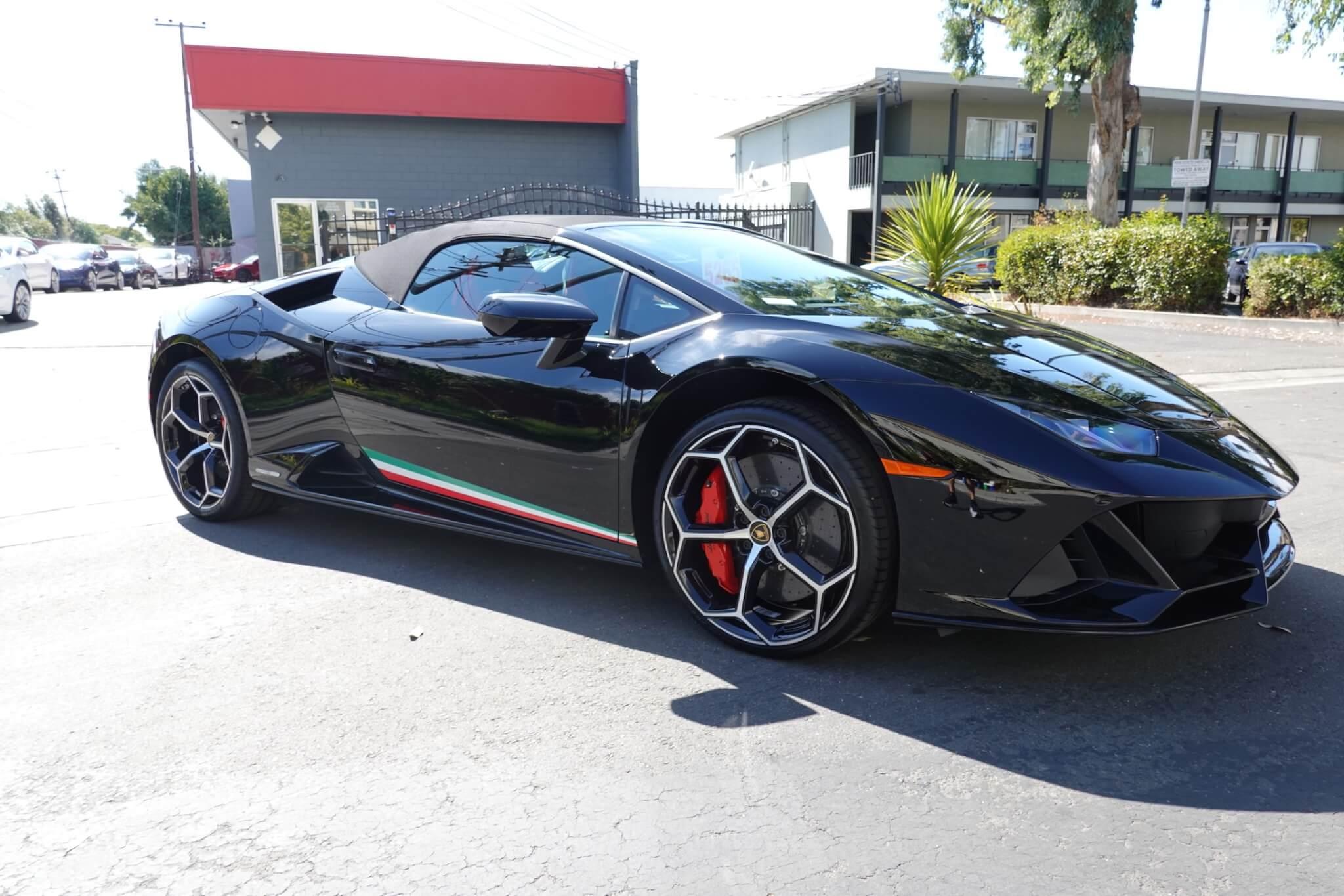 2019 Lamborghini Huracan Performante Spyder Full Stek Dynoshield Paint Protection Film With Cquartz Finest Reserve Ceramic Coating Ocdetailing