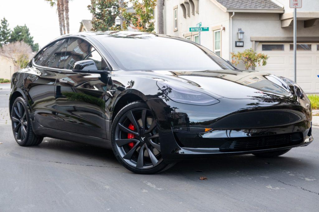 2020 Tesla Model 3 - Front End STEK DYNOShield PPF, 3M Crystalline Tint, Chrome Delete, and Smoke Lights - OCDetailing