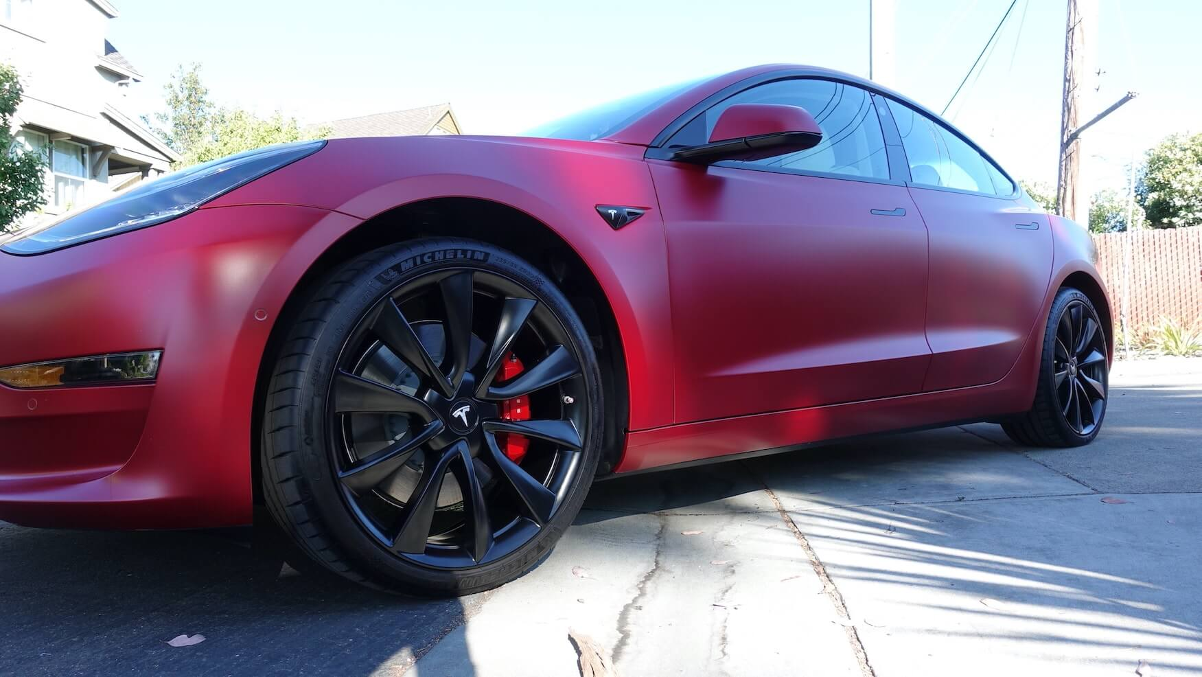 2019 TESLA MODEL 3 - RED - FULL XPEL STEALTH WRAP AND ...